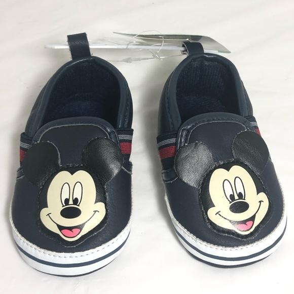 Disney Other - Disney Baby Boy Mickey Mouse Slip-on Shoes 6-9M